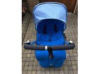 Blue Bugaboo Bee Plus (+) good condition and optional extras including 2016 carrycot