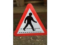 Road sign - crossing