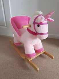 Brand new rocking horse unicorn