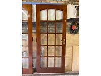 Mahogany 15 Pane Glazed Internal Doors