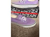 Lilac Vans trainers