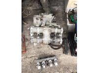 Honda cb 900 engine and custom exhaust