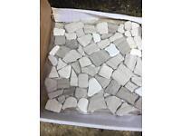 Teakwood Fragment Mosaic Tiles x7 - Floor or wall from Topps Tiles