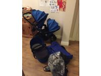 Icandy peach 3 cobalt (double with carrycot)