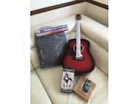 Brand new full size Martin Smith W-600 Acoustic Guitar Package With case.stand .Strap