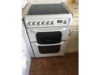 Hotpoint freestanding double fan assisted oven with ceramic