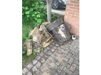 Some Rockery Boulders for free, and two large tree segments