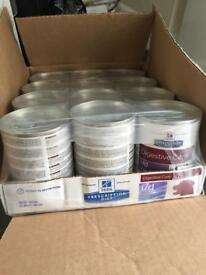 Hills I/D low fat dog food tins x 24