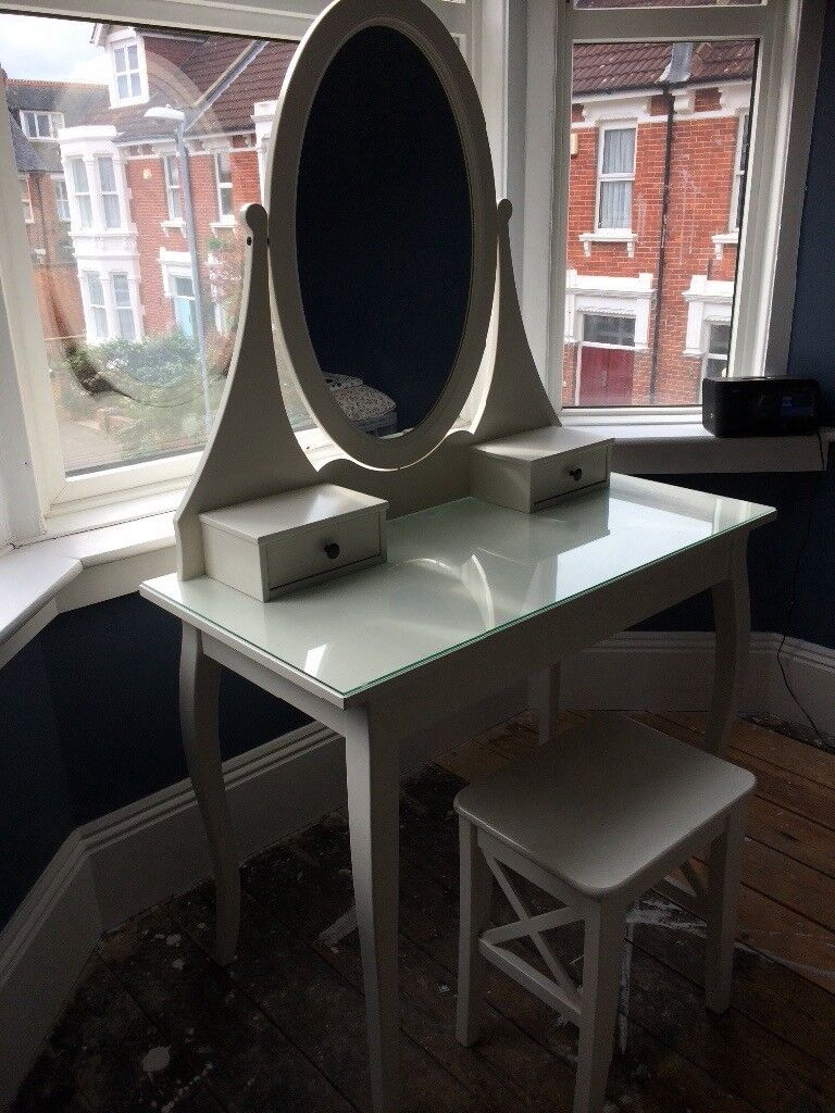 IKEA vanity table with mirror