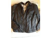 Teenaage boys leather-look jacket from ZARA, size 13/14 yrs
