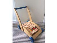 Wooden Alphabet trolley walker