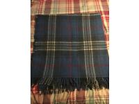 Woollen check blanket