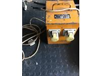 110V Transformer and SDS Drill and Grinder