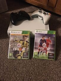 X-box 360 white and games, excellent condition