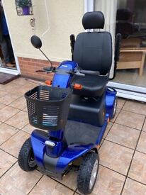 Pride Colt Pursuit 4 Wheel Mobility Scooter Like New still under warranty-Blue