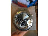 Guess man's watch silver