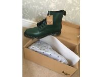 Pair of men's dr martens boots. Size 12. Brand new in box. Green.
