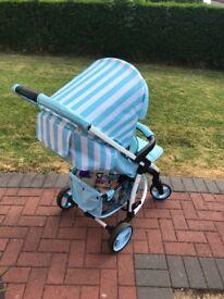 My Babiie Billie Faiers MB100 Pushchair (Blue Stripes)