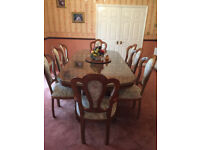 ITALIAN Dining Table and 8 Chairs and Sideboards