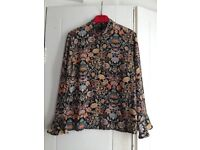 Brand new floral print Zara shirt, Size S