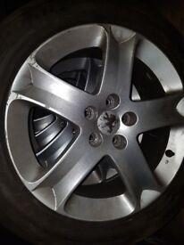 Peugeot 5 stud alloys