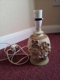 Pottery table lamp base