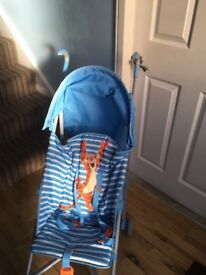 Almost new mothercare buggy