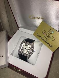 Men's Automatic Cartier Swiss Made Iced Out Boxed