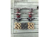 Skateboard Trucks & wheels x3