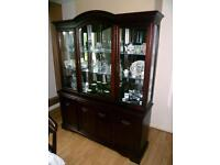 Lovely Mahogany Glazed Display Cabinet/Sideboard by William Morris