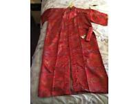 Silk Kimono Style Dressing Gown