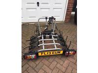 Witter ZX412 towbar mounted 4 bike carrier