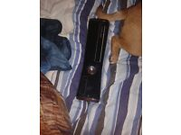 black Xbox 360 250GB with 2 games