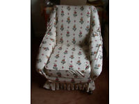 Comfy chair, old, with newer made to measure stretch covers