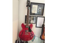 Gibson red 335 dot custom