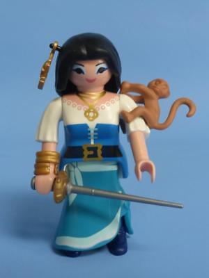 Playmobil Pre-School & Young Children new Playmobil Figure Pirate lady woman girl sword pistol gun hair clip saber