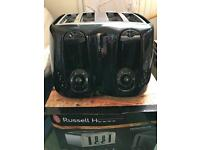Black Russell Hobbs toaster