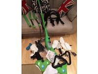 X5 steam mop with loads of extras and spare parts