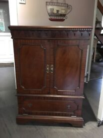 Mahogany Television Cabinet (Old world)