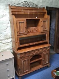 Unusual country style pine dresser.