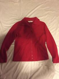 Red fleece jacket Dorothy Perkins size 10