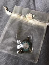Necklace & gift bag for book lover