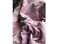 Lilac faux velvet, king size duvet cover REDUCED./ £4 L
