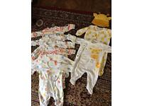 Unisex baby gro bundle, up to 3 months
