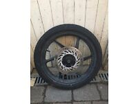 Front wheel from Honda CBF125 motorbike with disc brake