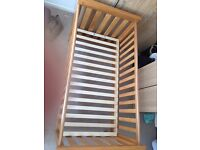 Cot Bed, Mattress, Highchair, Pushchair