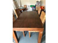 Next Furniture solid wood Dining table with 4 chairs