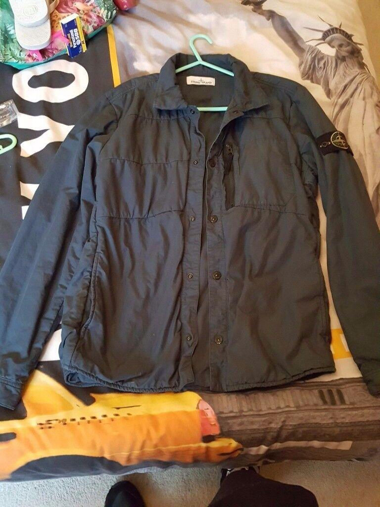 large stone island jacket size large hugo boss shorts medium