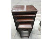 Nest of 4 Oriental tables , lovely carved detail , good condition. Must be seen.