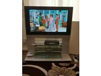 "Panasonic 38"" tv with remote"